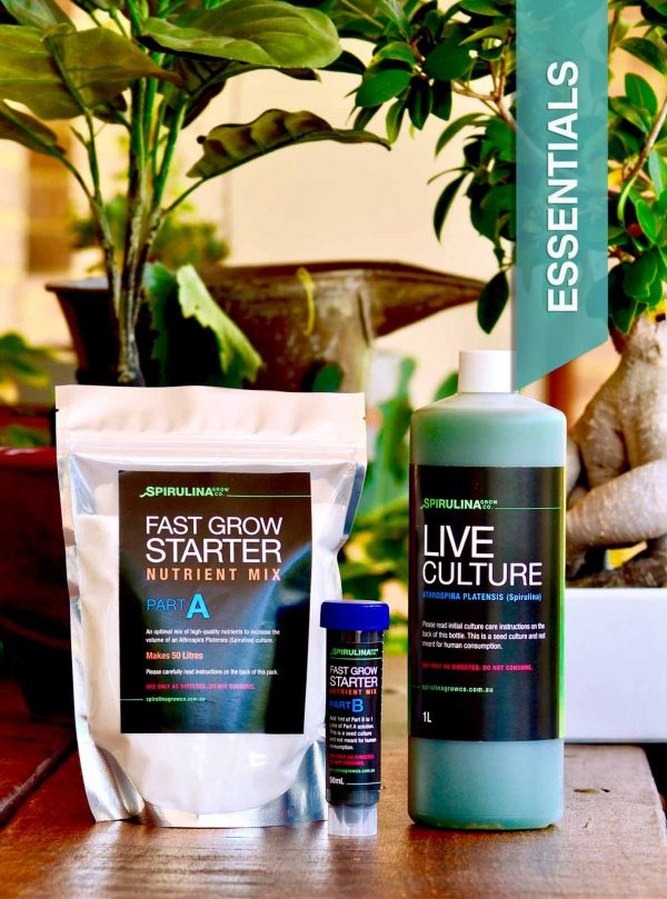 Live Spirulina Culture & Nutrients - The Essentials to grow your own Spirulina