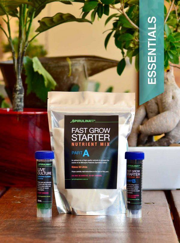 50ml Spirulina Live Culture and fast grow starter pack Australia