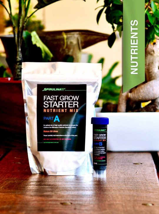 Fast Grow Starter Nutrient Pack for cultivating Spirulina at Home Australia