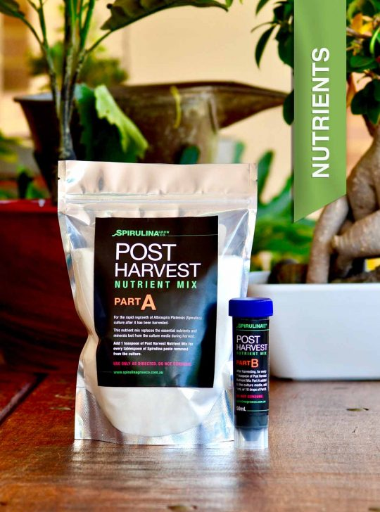 Post Harvest Nutrients for Spirulina micro-farming Australia