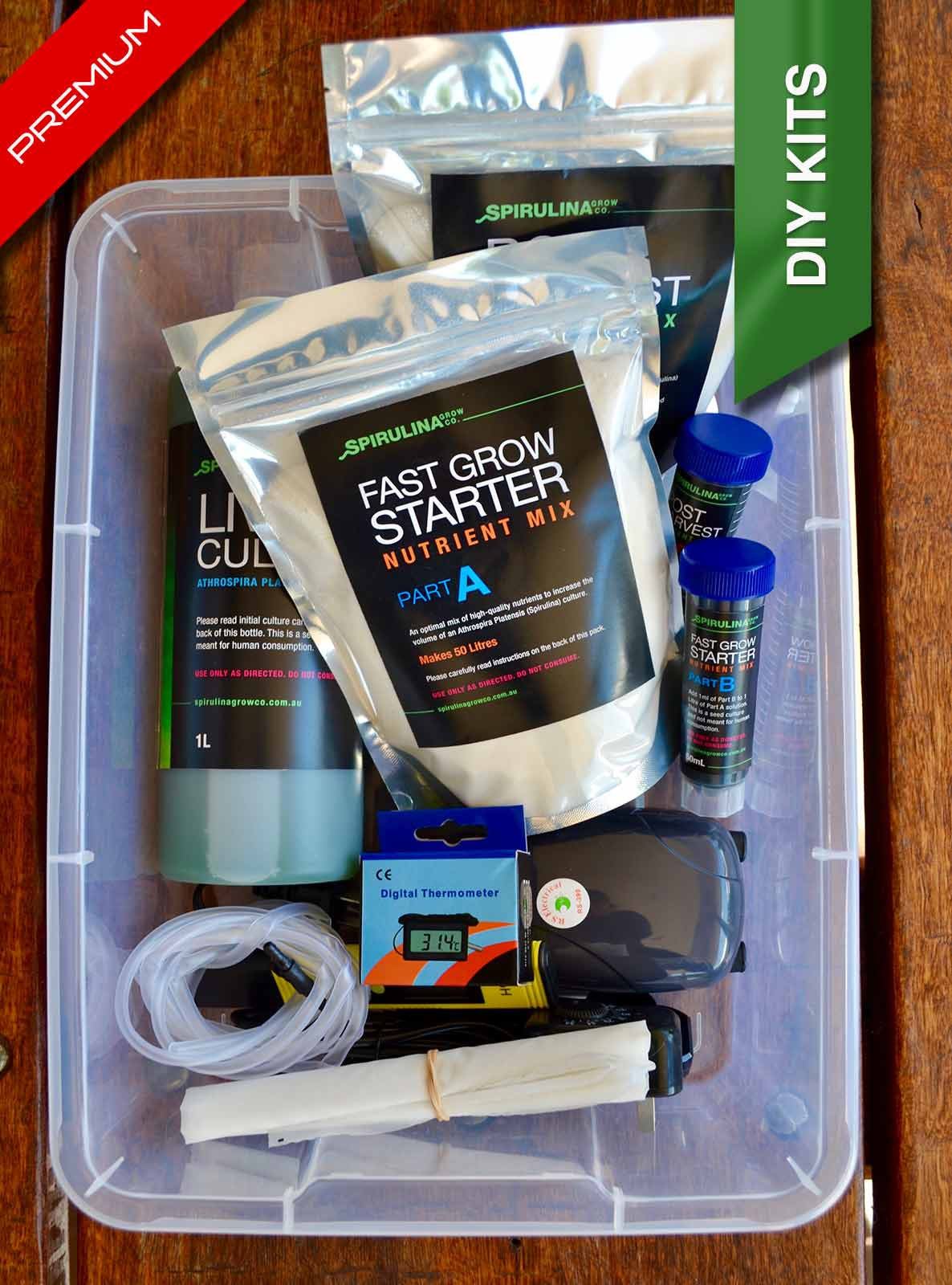 Premium DIY Spirulina micro-farming Kit Australia