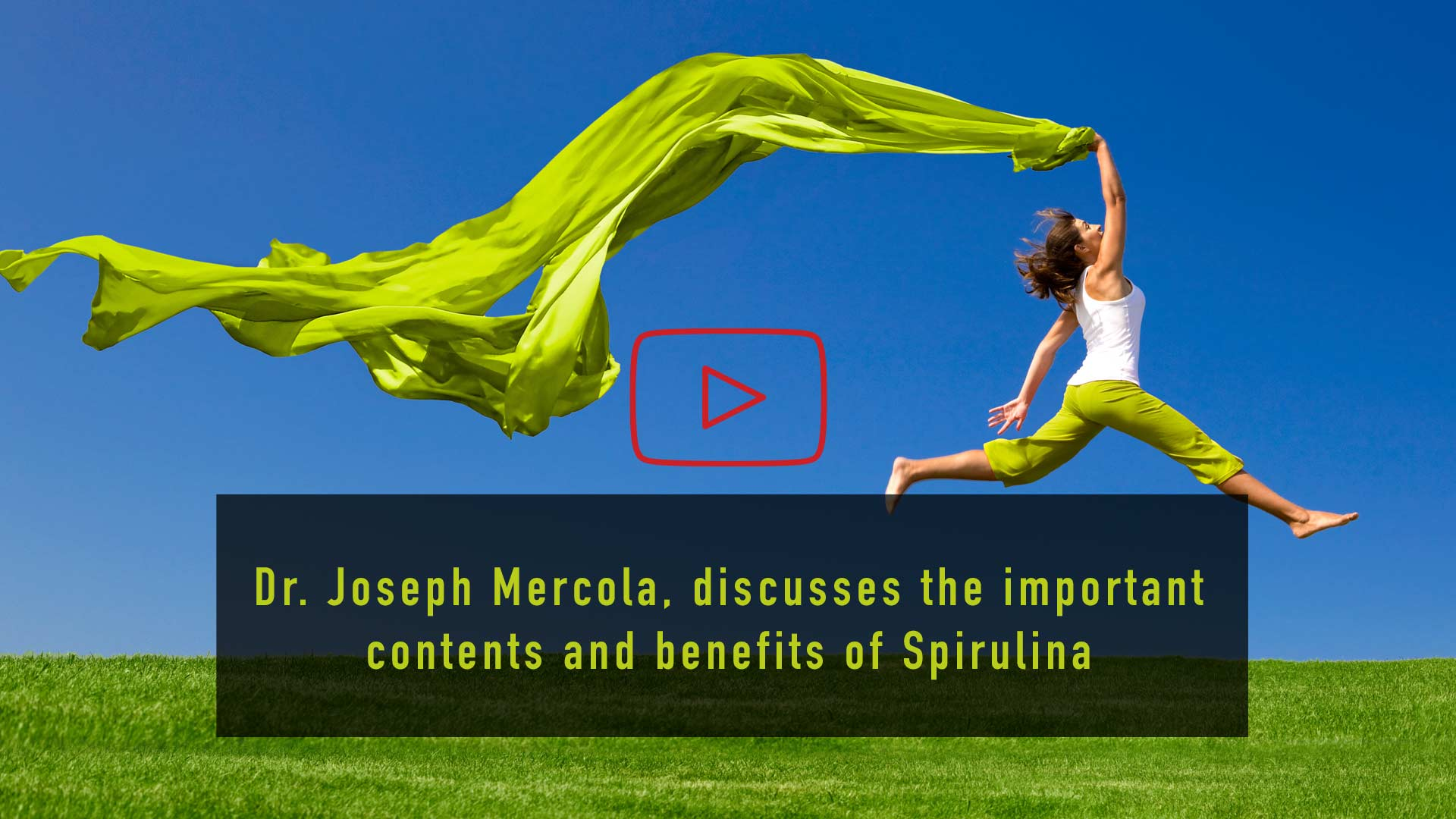Dr Joseph Mercola discusses the important content and benefits of Spirulina