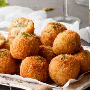 Spirulina and Mushroom Arancini Balls Recipe