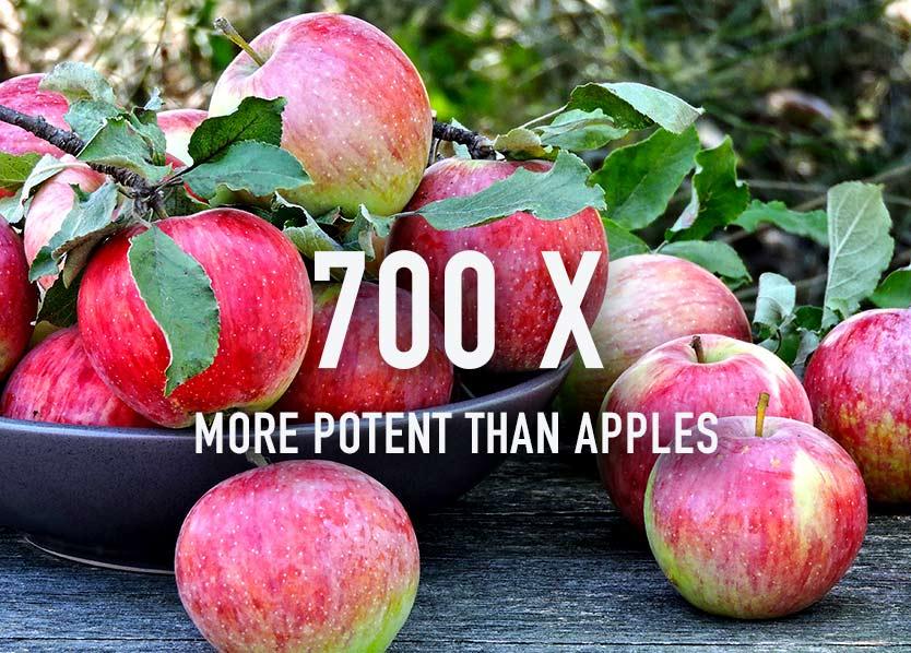 Spirulina vs apples