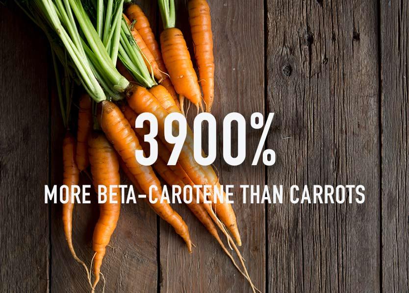 Spirulina vs carrots
